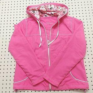 Three Hearts Pink Windbreaker, Size PM